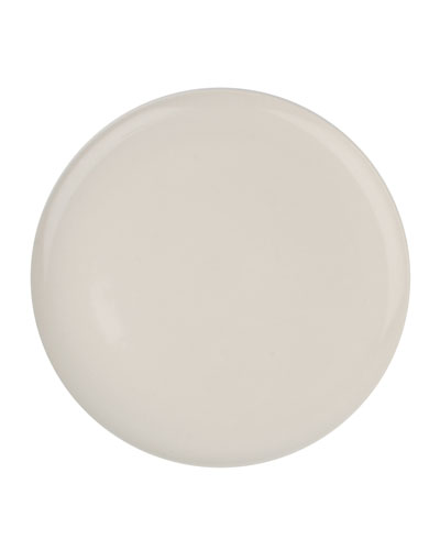 Shell Bisque White Dinner Plates, Set of 4