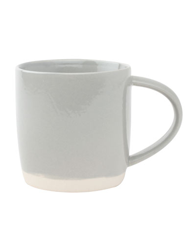 Shell Bisque Grey Mugs, Set of 4