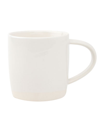 Shell Bisque White Mugs, Set of 4