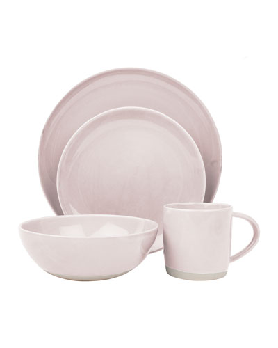 Shell Bisque Soft Pink 16-Piece Dinnerware Set