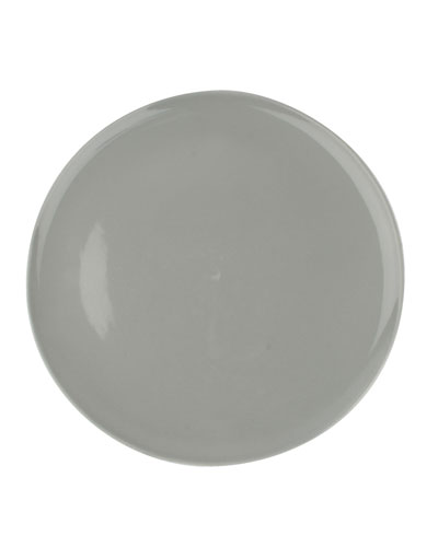 Shell Bisque Grey Dinner Plates, Set of 4