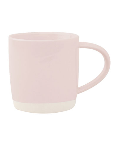 Shell Bisque Soft Pink Mugs, Set of 4