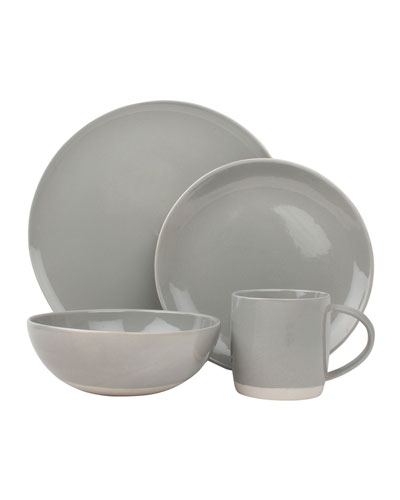Shell Bisque Grey 4-Piece Place Setting