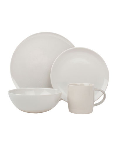 Shell Bisque White 4-Piece Place Setting