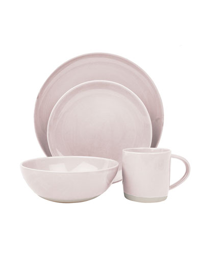 Shell Bisque Soft Pink 4-Piece Place Setting
