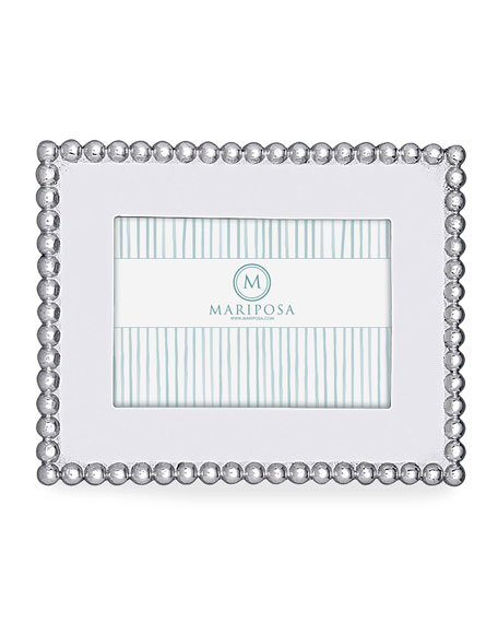 """Mariposa Pearled Picture Picture Frame, 4"""" x 6"""""""
