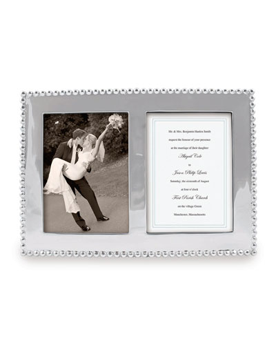 Pearled Double Picture Frame,  5