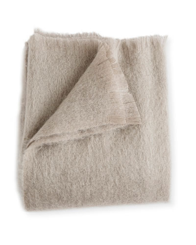 Mohair Throw, Ash