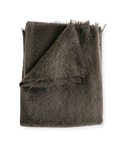 Mohair Throw, Bark
