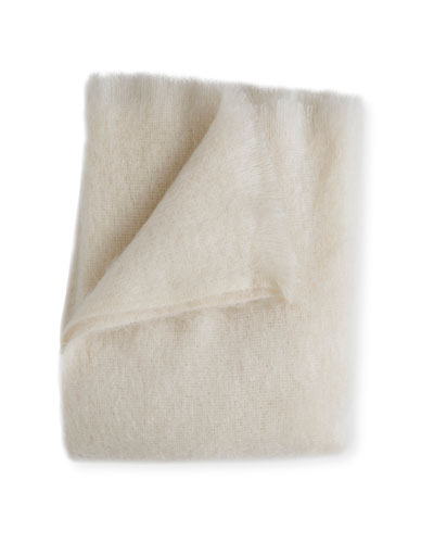 Mohair Throw, Pearl