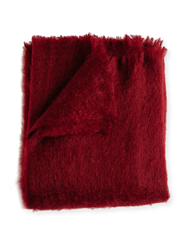 Mohair Throw, Garnet