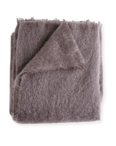 Mohair Throw, Amethyst