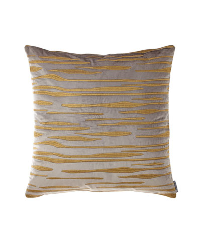 Naz Square Pewter Velvet Pillow