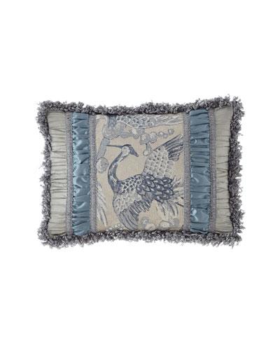 Birds of a Feather Pieced Oblong Pillow