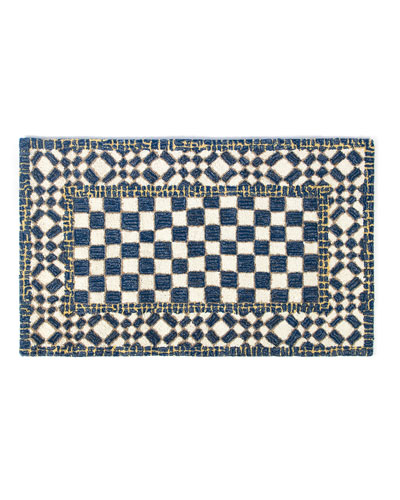 Royal Check Rug, 2.3' x 3.8'