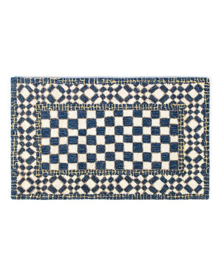 MacKenzie-Childs Royal Check Rug, 2.3' x 3.8'