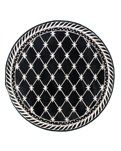 Brighton Pavilion Leather Round Rug, 6'