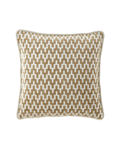 Patina Velvet Geometric Boutique Pillow