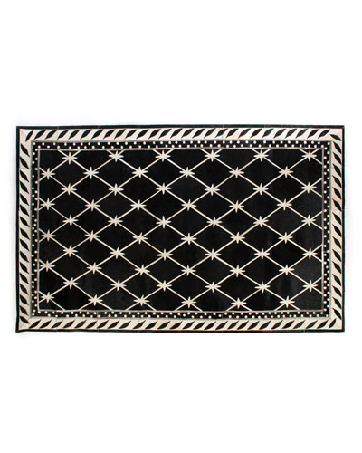Brighton Pavilion Leather Rug, 5' x 8'