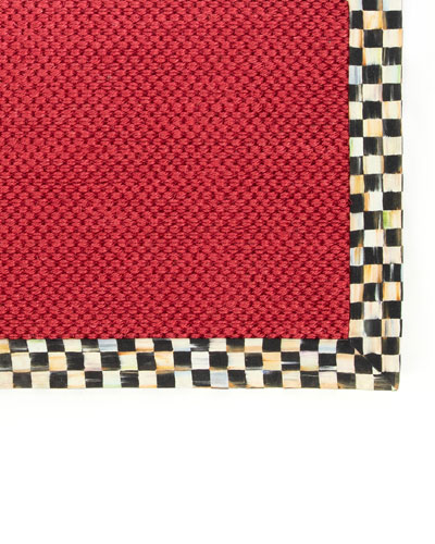 Courtly Check Red Sisal Rug, 3' x 5'