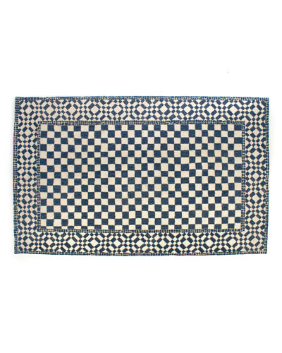 Royal Check Rug, 5' x 8'