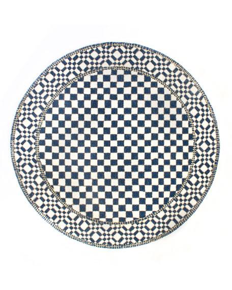 MacKenzie-Childs Royal Check Round Rug, 6'