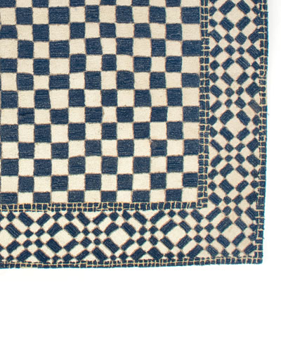 Royal Check Rug, 9' x 12'