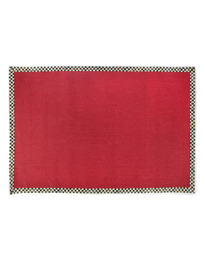 Courtly Check Red Sisal Rug, 6' x 9'