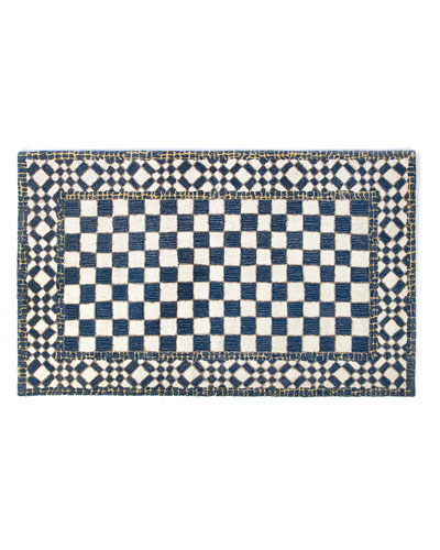 Royal Check Rug, 3' x 5'