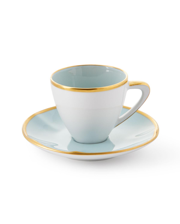 Anna Weatherley POWDER BLUE ESPRESSO CUP & SAUCER