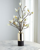 John-Richard Collection Japanese Magnolias in Black and Gold