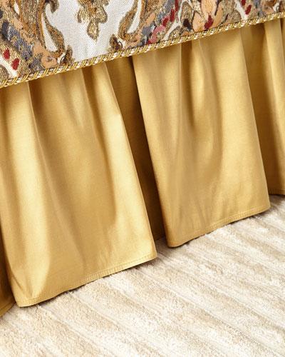Ruffled Silk Queen Dust Skirt
