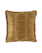 Austin Horn Collection Ainsley Shirred Silk European Sham
