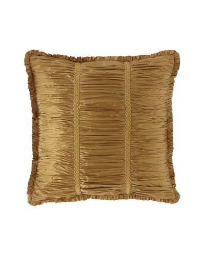 Ainsley Shirred Silk European Sham