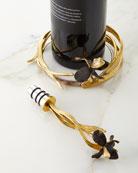 Michael Aram Black Iris Coaster & Stopper Set