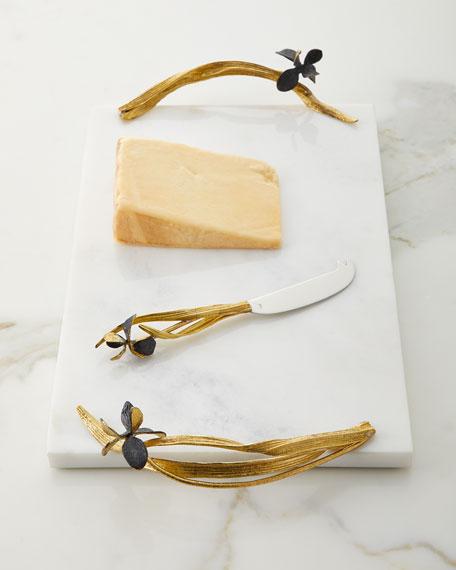 Michael Aram Black Iris Large Cheese Board with Knife