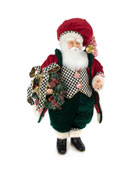 MacKenzie-Childs Courtly Check Bell Santa
