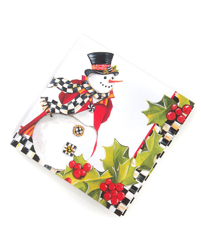 Top Hat Snowman Paper Cocktail Napkins, 20 Pack