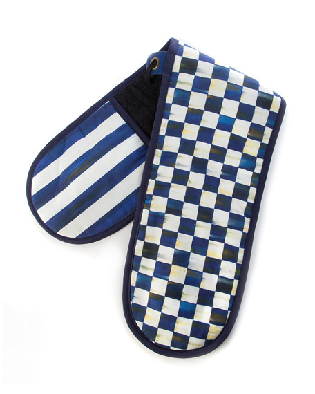 MacKenzie-Childs Royal Check Large Double Oven Mitt