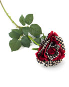 MacKenzie-Childs Courtly Check Red Grand Rose Pick