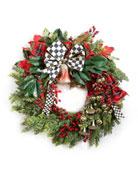 MacKenzie-Childs Deck The Halls Wreath