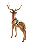 MacKenzie-Childs Brown Bow Tie Deer Standing