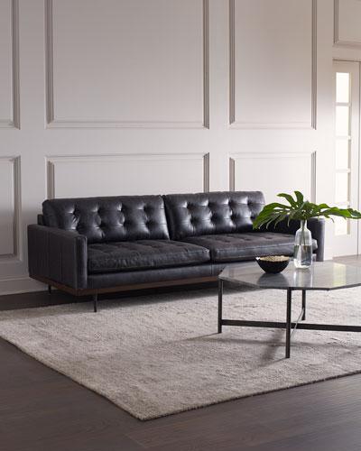 Gamble Leather Sofa, 89