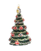 MacKenzie-Childs Highland Tree Glass Ornament