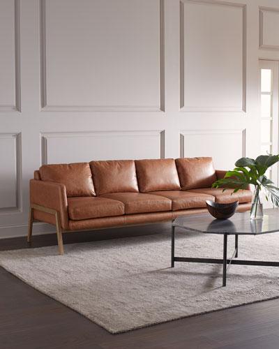 Deidre Leather Sofa, 92.5