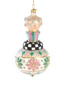 MacKenzie-Childs Home Sweet Snow Cupola Glass Ornament