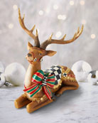 MacKenzie-Childs Resting Bow Tie Deer Decor