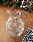 MacKenzie-Childs Snowfall Pitcher