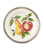 Neiman Marcus Fruit Pewter & Ceramic Dinner Plate