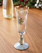 MacKenzie-Childs Snowfall Champagne Flute
